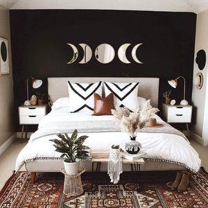 5 piece moon mirror crescent home decor boho